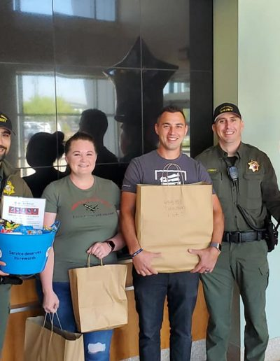 Blue Star Lending Giving Away Surprises to the Police Officers